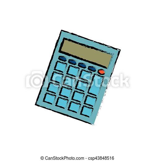 Calculator math device icon vector illustration graphic design.