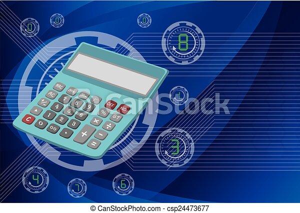 Calculator on background technologies, vector eps10 illustration - csp24473677