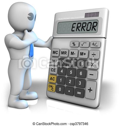 Calculator shows error - csp3797346