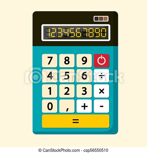 Calculator Vector Flat Design Icon - csp56550510