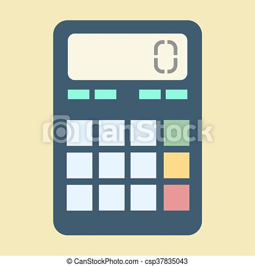 Calculator vector illustration - csp37835043