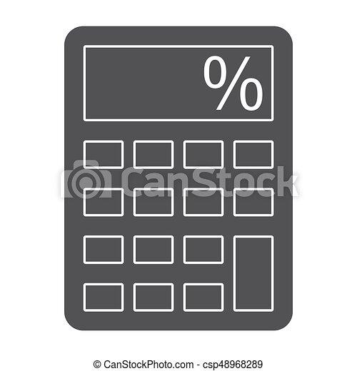 calculator vector silhouette calculator silhouette on white