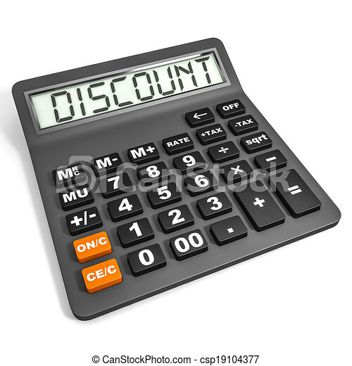 Calculator with DISCOUNT on display. - csp19104377