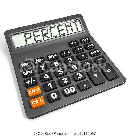 Calculator with PERCENT on display. - csp19162057