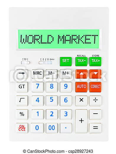 Calculator with WORLD MARKET - csp28927243