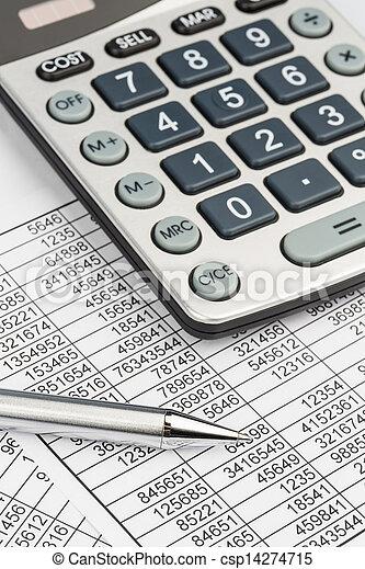 calculators and statistk - csp14274715