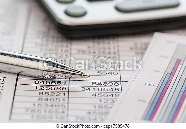 calculators and statistk - csp17585478