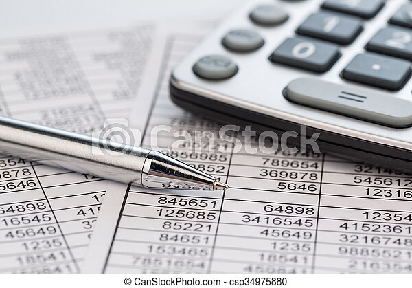 calculators and statistk - csp34975880