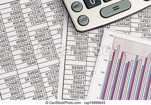calculators and statistk - csp16996643