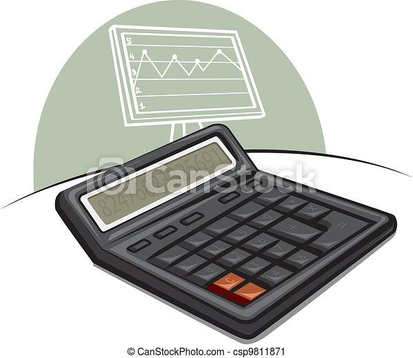calculatrice, électronique - csp9811871