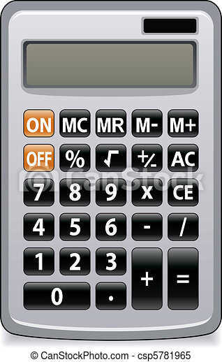 Calculatrice, business. Calculatrice, vecteur, affaires ...