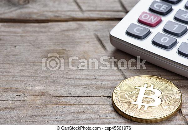 calculatrice, monnaie, bitcoin - csp45561976