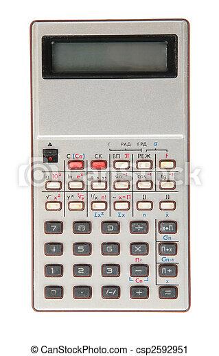 calculatrice, vieux, sale, obsolète - csp2592951