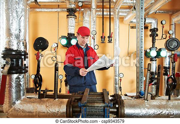 Reparador de ingenieros en sala de calderas - csp9343579