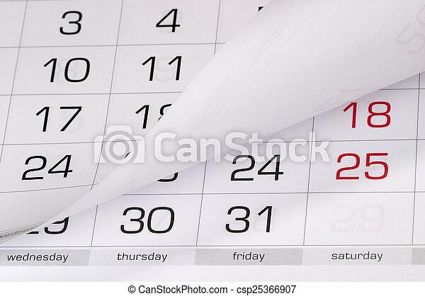 calendário - csp25366907