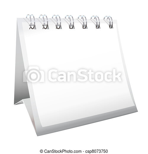 calendário, em branco, escrivaninha - csp8073750