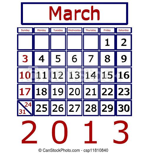Calendario Marco 2013