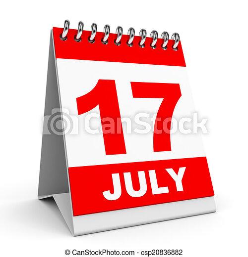 Calendario. 17 de julio. - csp20836882