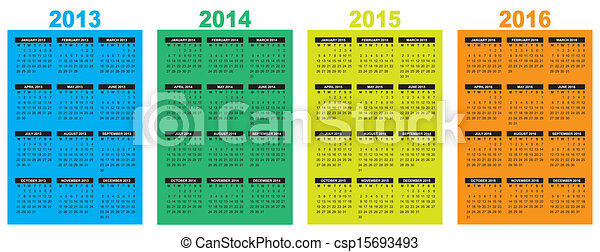 calendar 2013-2014-2015-2016 - csp15693493