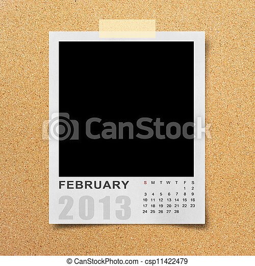 Calendar 2013 on photo background . - csp11422479