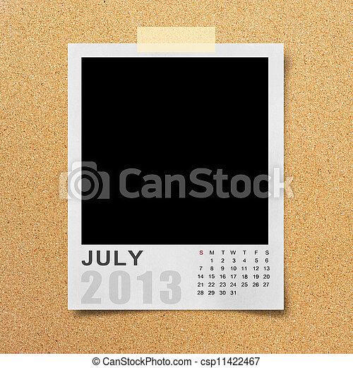 Calendar 2013 on photo background . - csp11422467