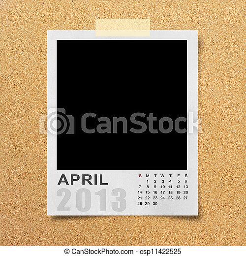 Calendar 2013 on photo background . - csp11422525
