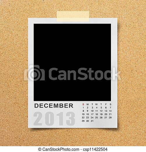Calendar 2013 on photo background . - csp11422504