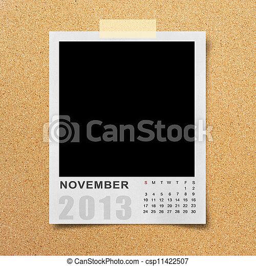 Calendar 2013 on photo background . - csp11422507