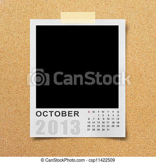 Calendar 2013 on photo background . - csp11422509