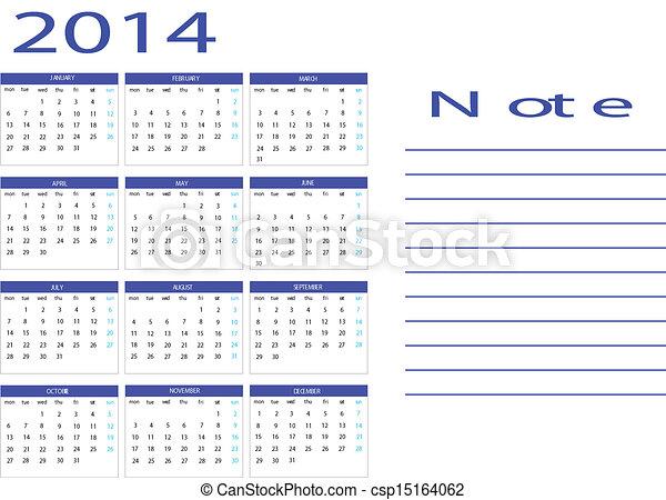 Calendar 2014 - csp15164062