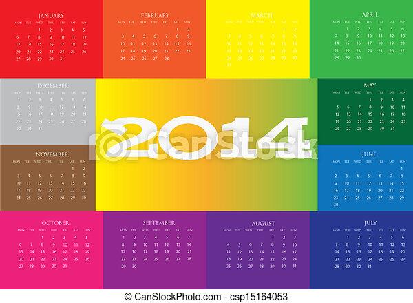 Calendar 2014 - csp15164053