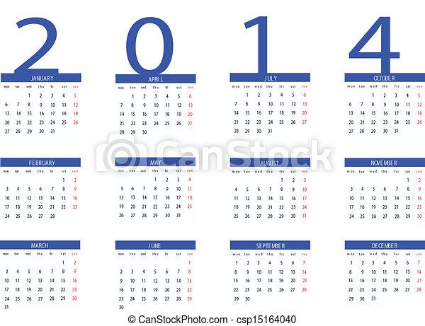 Calendar 2014 - csp15164040