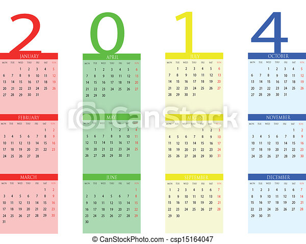 Calendar 2014 - csp15164047