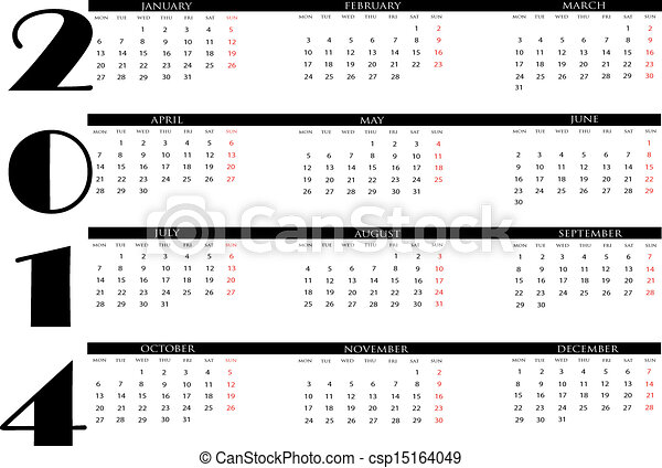 Calendar 2014 - csp15164049