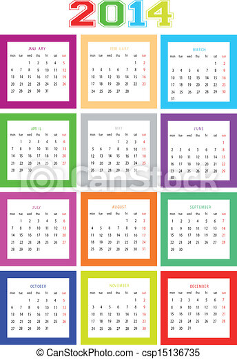 Calendar 2014  - csp15136735