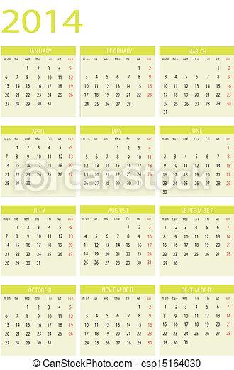 Calendar 2014 - csp15164030