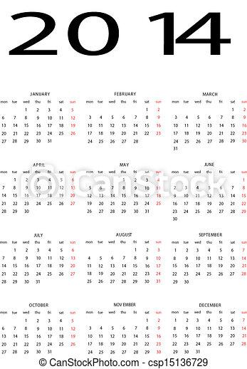 Calendar 2014   - csp15136729