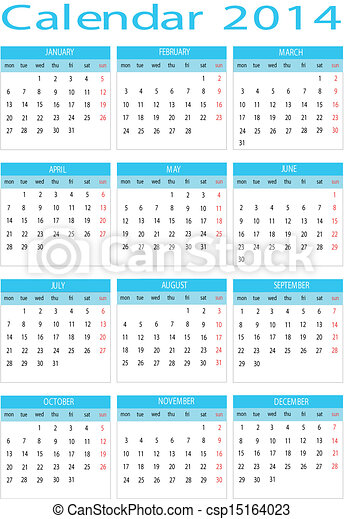 Calendar 2014 - csp15164023
