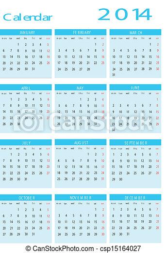 Calendar 2014 - csp15164027