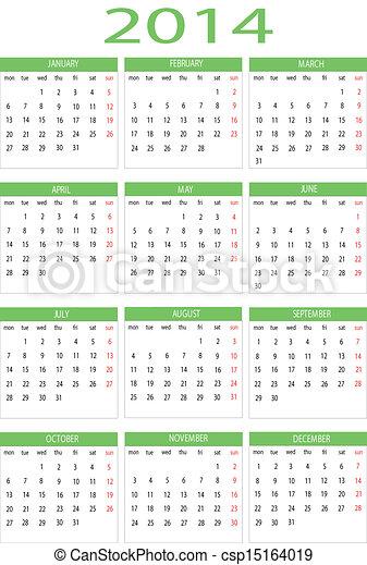 Calendar 2014 - csp15164019