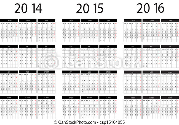 Calendar 2014,2015,2016 - csp15164055