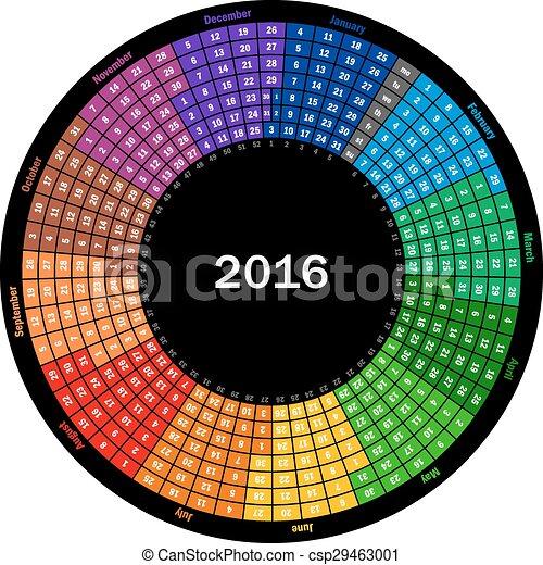 Calendar 2016 - csp29463001