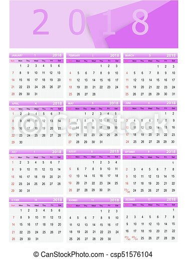 Calendar Vector Illustration Template Calendar Can Be - Public relations calendar template