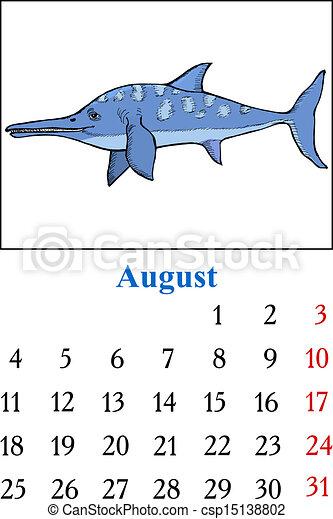 Calendar, August 2014 - csp15138802