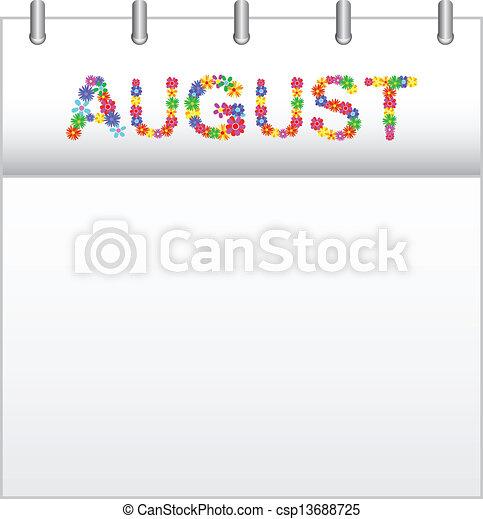 Calendar August - csp13688725