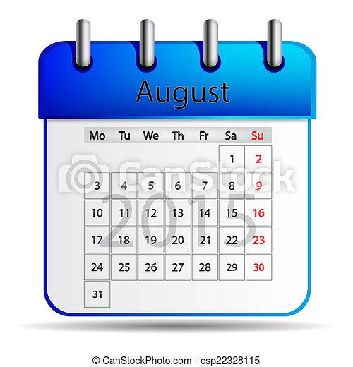 Calendar August - csp22328115