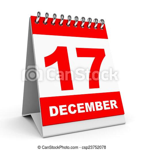 Calendario. 17 de diciembre. - csp23752078