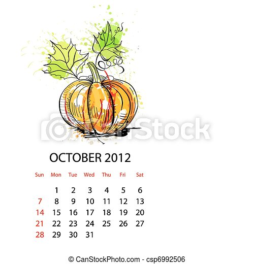 Calendar for 2012 with vegetables - csp6992506