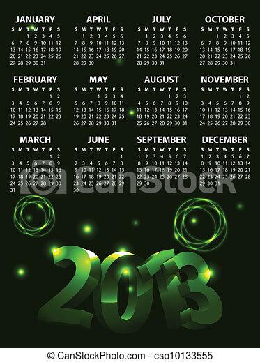 Calendar for 2013 vector - csp10133555