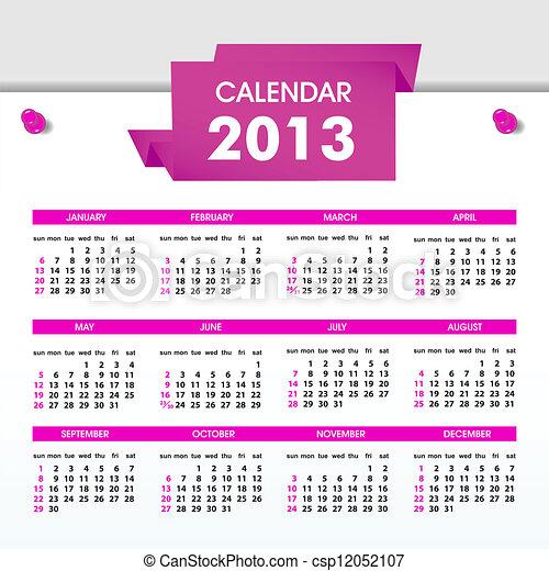 calendar for 2013 - csp12052107